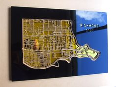 Richmond 3121. Superb, laser cut wall decoration in MDF and coloured acrylic. by 3rdStone on Etsy