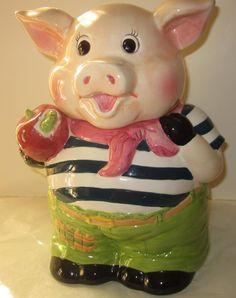 vintage pig cookie jar by mstookesmuzes on Etsy, $15.00