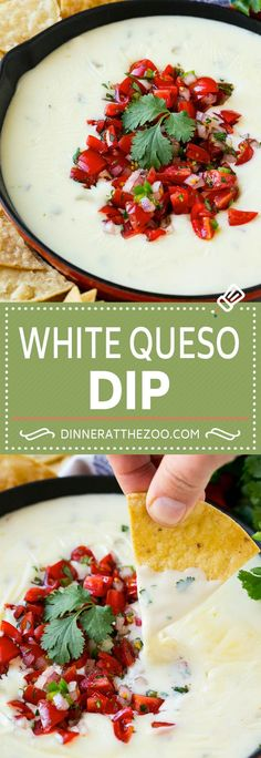White Queso Dip Recipe | Mexican Cheese Dip | Queso Sauce