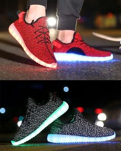the best attitude 704a5 75022 Awesome light up LED Shoes! They come in Gray, Green, Red and Black