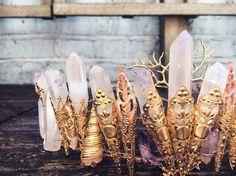 Angel aura mermaid crystal crown
