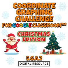 Winter, Christmas-themed interactive Google Slides digital task card math game covering graphing ordered pairs on a coordinate grid first quadrant CCSS 5.g.a.2 Google Classroom, Distance Learning2 challenges, 10 multiple choice self-checking problems eachThe students go to the first slide and use th... Christmas Math, Winter Christmas, Christmas Themes, 5th Grade Math, Multiple Choice, Google Classroom, Math Games, Task Cards, Distance