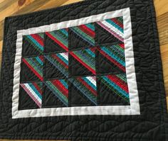Wall Hanging Miniature Amish Wall Quilt 16 x 19 by ElisasBackporch