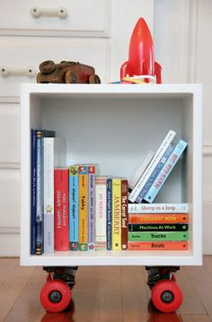 handmade charlotte :: DIY Skateboard Book Cubby :: design for kids and the home