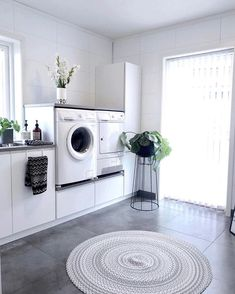 Whether you have a little washing storage room or tiny utility room, your laundry location can be both useful as well as stunning! Small Laundry Rooms, Laundry Room Design, Garage Makeover, Bathroom Interior Design, House Rooms, Storage Spaces, Storage Room, House Design, Instagram