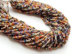 WHOLESALE 5 Strands Multi Gemstone Beads Multi by gemsforjewels