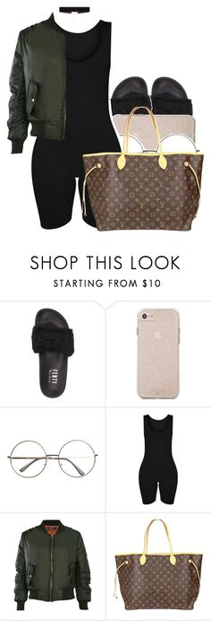 """Sans titre #419"" by lesliekabengele ❤ liked on Polyvore featuring Puma, Pilot, Louis Vuitton and 8 Other Reasons"