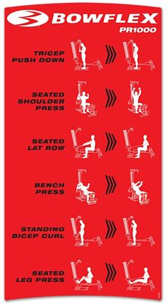 Upper body workout .. Modify for other brands Bowflex PR1000 workouts. Got get it in ;))