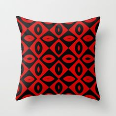 Red and Black- Throw Pillow by NNPinksDesigns on Etsy