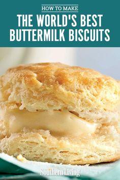 Biscuit Recipe Video, Homemade Biscuits Recipe, Biscuit Recipe With Lard, Southern Buttermilk Biscuits, Buttermilk Recipes, Flaky Buttermilk Biscuit Recipe, Best Buttery Biscuit Recipe, Southern Homemade Biscuits, Baking Biscuits