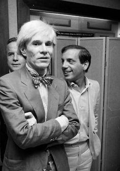 Andy Warhol & Studio 54 owner, Steve Rubell.