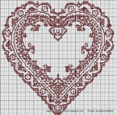 Heart frame (free pattern)