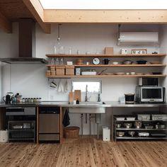 Trendy home organization kitchen cabinets Ideas Bakery Kitchen, Freestanding Kitchen, Kitchen Design Small, Industrial Kitchen Design, Kitchen Design, Kitchen Renovation, Home Decor Kitchen, Kitchen Interior, Kitchen Style