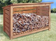 Wood storage shed plans, including free how to build guide. Our wooden storage shed plans are so easy, you may use your new shed for more than storage. Wooden Storage Sheds, Diy Storage Shed Plans, Wood Shed Plans, Wooden Sheds, Diy Shed, Garage Plans, Firewood Shed, Firewood Storage, Outdoor Projects