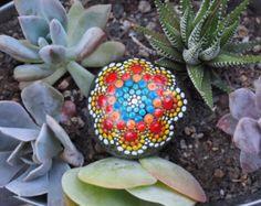Solsticio de verano mini piedras-pintado a mano por ArtByEvaMarie