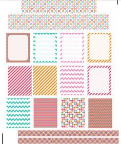 Colorful Planner Printable Printable Templates, Printable Planner Stickers, Printable Labels, Free Printables, Free Planner, Planner Ideas, Happy Planner, Bullet Journel, Life Journal