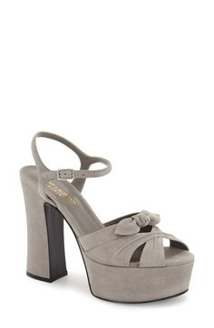 Saint Laurent 'Candy' Leather Platform Sandal (Women) available at #Nordstrom
