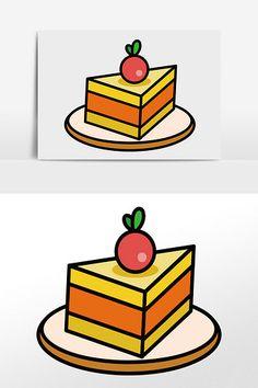 Cartoon vector small fresh cute sweet cake food ingredients element illustration#pikbest#templates Food Template, Templates, Sweet Cakes, Cube, Fresh, Cartoon, Illustration, Stencils, Vorlage