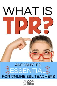 What is TPR?  Check out this post to see why TPR is one of the most important online ESL strategies.  If you want to learn more about total physical response and why it is so essential to online ESL teaching, read more about it here!  In fact, TPR is so important that it is a qualification for getting hired for online ESL teaching jobs.  Pass your VIPKid or Gogokid interview with these helpful online teaching tips.  #vipkid #gogokid #onlineesl Online Teaching Jobs, Teaching English Online, Online Tutoring, Online Jobs, Efl Teaching, Teaching Strategies, Teaching Tips, Ell Strategies, Jobs For Former Teachers