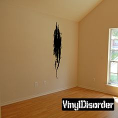 Tears through walls Ripped Wall Decal - Vinyl Decal - Car Decal - CD6109