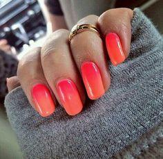 Summer 'Sunrise/Sunset' Gradient Nails ♡♥♡♥♡♥