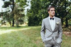 Dapper suit for the groom....