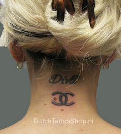 Chanel Logo Tattoo   Chanel-Logo-Neck-Tattoo-by-Dutch-Tattoo-Shop-chanel-21335412-449-500 ...