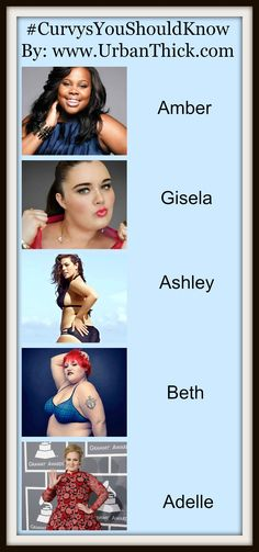 #CurvysYouSHouldKnow At Urban Thick We Don't Just Sell Clothes, We Sell Confidence! #AmberRiley, #GiselaRamirez, #AshleyGraham, #BethDitto, #Adelle