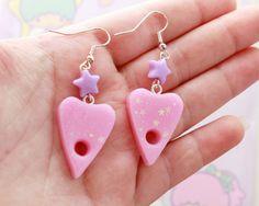 Pastel Goth Ouija Earrings in Pink  pastel goth by MonsterBunBun