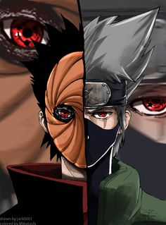Tobi and Kakashi (aruto)