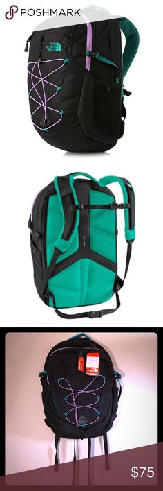 NWT North Face Women Borealis KOKOMO GREEN. NWT North Face Women Borealis KOKOMO GREEN. New with tags. I have another two colors, one in VAPOROUS GREY/ IMPACT ORANGE, and the other in VIOLET PLUM/ BLACK. Thanks for looking!! The North Face Bags Backpacks
