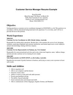 Good Resume Examples For Customer Service Resume Samples