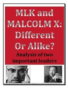 mlk, malcolm x and civil rights struggle essay Malcolm x: a cultural revolutionary malcolm x was known not because he was a martyr to the cause of civil rights or because of any inherent contributions he may have made to the solution of the black race problem, but because he was the uncompromising symbol of resistance and the spokesman for the non-nonviolent black man in america.