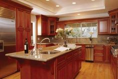90 best cherry color kitchens images on pinterest kitchens cherry