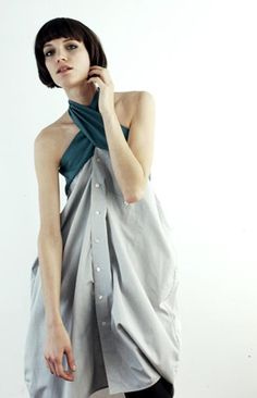 ::: OutsaPop Trashion ::: DIY fashion by Outi Pyy :::: Clothing recon ideas from Vilde Svaner Shirt Refashion, Diy Shirt, Diy Clothing, Sewing Clothes, Diy Fashion, Ideias Fashion, Fashion Design, Umgestaltete Shirts, Diy Vetement