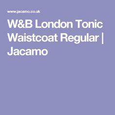W&B London Tonic Waistcoat Regular | Jacamo