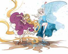 Rapunzel and Elsa