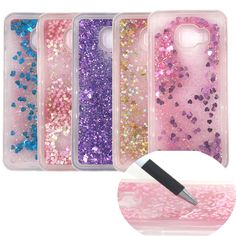 Fashion Dynamic Liquid Glitter Colorful Paillette Sand Quicksand soft TPU Back Case for samsung galaxy C5 C7 water cover case