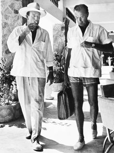 John Wayne on Vacation, 1940s ~ nice legs, Mr. Cooper!