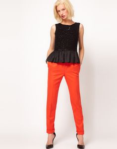 Asos Super Soft Trousers with Pleat Front