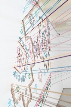 Embroidered Space installation - Faig Ahmed