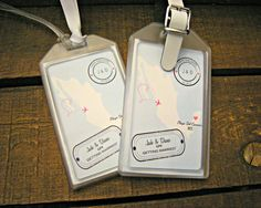 save the date luggage tags for destination weddings bridal showers engagement parties out of town bags welcome bags
