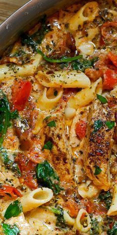 Chicken penne pasta with bacon and spinach in creamy tomato . - Chicken penne pasta with bacon and spinach in creamy tomato sauce – # creamy # chicken Chicken Penne Pasta, Chicken Pasta Recipes, Recipe Pasta, Keto Chicken, Beef Pasta, Chicken Pasta With Spinach, Spinach Pasta Recipes, Creamy Pasta Recipes, Baked Pasta Recipes
