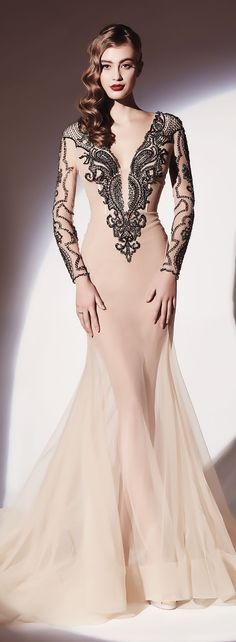 •❈• Dany Tabet Couture S/S 2014   jaglady Not that I'd have anywhere to wear this but GOOD LORD!!! Gorgeous!