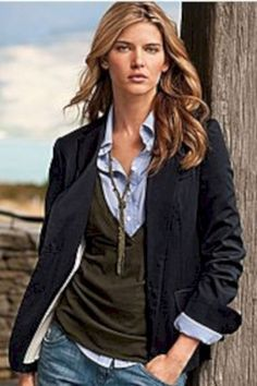 Pretty fall outfits with blazer inspiration (51)