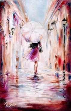 That`s whait I like Oil Painting On Canvas, Painting & Drawing, Figure Drawing, Rain Art, Umbrella Art, Beautiful Drawings, Beautiful Beautiful, Beautiful Pictures, Portrait Art