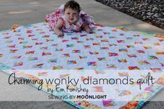 Moda Bake Shop: Charming Wonky Diamonds Quilt ~ A cute baby or lap quilt perfect for pre-cuts! The Fabric Shack has a large selection of charm packs and other pre-cuts to choose from at http://www.fabricshack.com/cgi-bin/Store/store.cgi