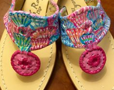 Authentic Jack Rogers hand painted in a custom by luckyleaf