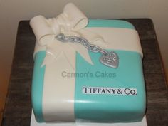 A Fondant Tiffany & Co. Themed French Vanilla Birthday Cake :-)