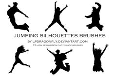 jumping silhouettes brushes by lpdragonfly.deviantart.com on @deviantART
